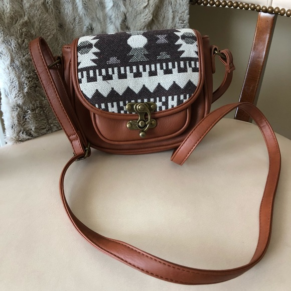 Kiss Me Couture Handbags - Kiss Me Couture small brown crossbody bag